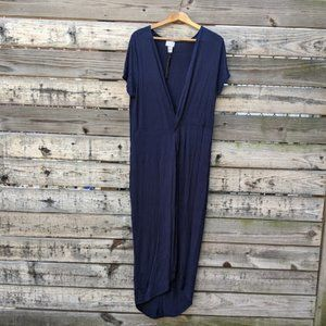 NWT SWAK Navy Blue Long Duster Shirt Size 1X